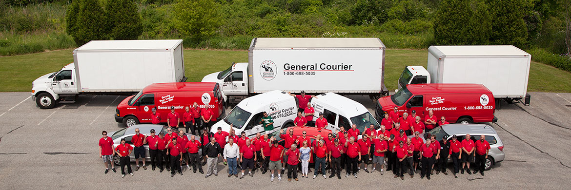 Generial Courier delivery staff and box trucks, delivery vans, delivery cars